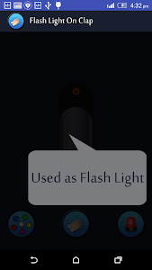 screenshot of Flash Light on Clap version 2.5