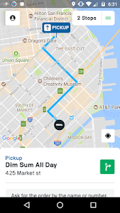 screenshot of Fleet by Postmates version 4.41.3
