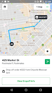 screenshot of Fleet by Postmates version 4.1.0