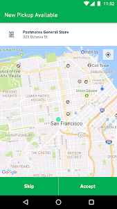 screenshot of Fleet by Postmates version 3.7.2