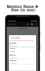 screenshot of Form Filler version 1.3