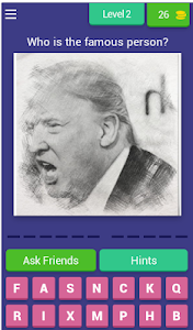 screenshot of GUESS THE PERSON - HARD GAME version 4.4.0z