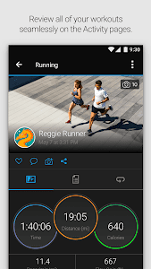 screenshot of Garmin Connect™ version Varies with device