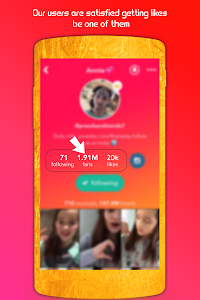 screenshot of Get Famous For Musically Likes & Followers version 1.0