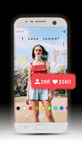 screenshot of GetPush Likes with Photo Drawer version 1.0.0