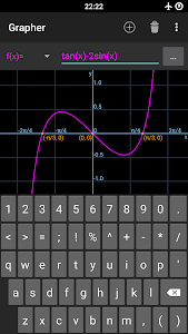 screenshot of Grapher - Equation Plotter & Solver version 1.4.2c