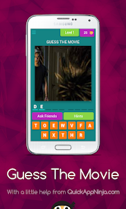 screenshot of Guess The Movie version 4.1.0z