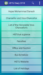 screenshot of HSTU Diary version 1.1.11