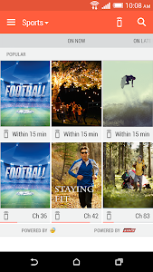 screenshot of HTC Sense TV version Varies with device