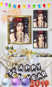 screenshot of Happy New Year Photo Frame-New Year Photo Editor version 1.0