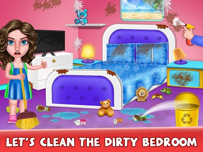 screenshot of House Cleanup : Girl Home Cleaning Games version 2.4