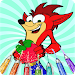 How To Color Crash Bandicoot For Kids