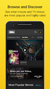 screenshot of IMDb Movies & TV Shows: Trailers, Reviews, Tickets version Varies with device