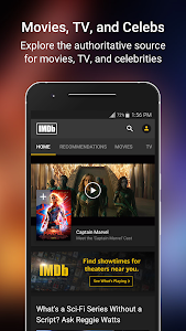 screenshot of IMDb: Movies & TV Show Reviews, Ratings & Trailers version Varies with device