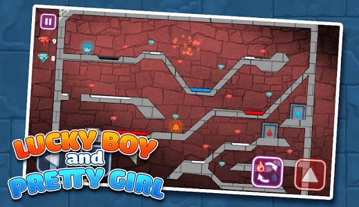 screenshot of LuckyBoy and PrettyGirl - Crystal Temple Maze version 3.52