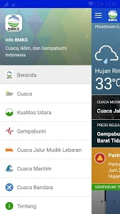 screenshot of Info BMKG version 2.1