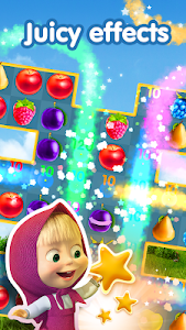 screenshot of Masha and The Bear Jam Day Match 3 games for kids version 1.4.66