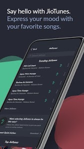 screenshot of JioSaavn Music & Radio – JioTunes, Podcasts, Songs version Varies with device