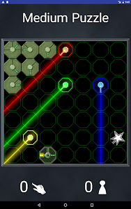screenshot of LaserLab Puzzle Free version 1.82