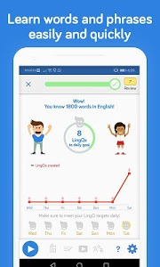 screenshot of Learn Languages with LingQ | Spanish, French, SRS version 4.8.5