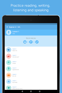 screenshot of Learn to speak French with busuu version 16.3.0.468