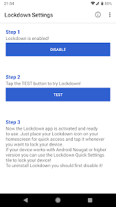 screenshot of Lockdown - Protect your device with a click version 4.1