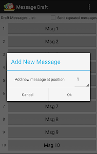 screenshot of Message Draft version Varies with device