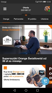 screenshot of Mój Orange version 4.14