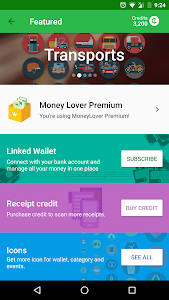 screenshot of Money Lover - Expense Manager & Budget Planner version Varies with device