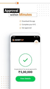 screenshot of MoneyTap Credit - Better Than Personal Loan Apps version 3.3.1