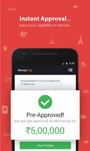 screenshot of MoneyTap, your credit line app version 2.1.2