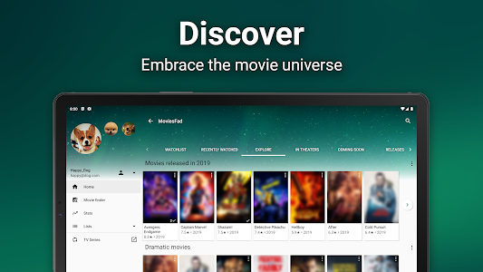 screenshot of MoviesFad - Your movie manager version 1.1.26