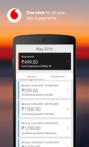 screenshot of MyVodafone (India) - Online Recharge & Pay Bills version 8.0.1.6