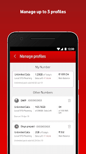 screenshot of MyVodafone (India) - Online Recharge & Pay Bills version 8.0.2.1