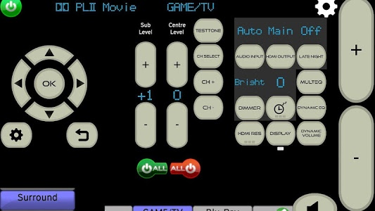 screenshot of MyAV remote for 2017-18 Hisense Smart TVs (Wi-Fi) version Cow V3.46