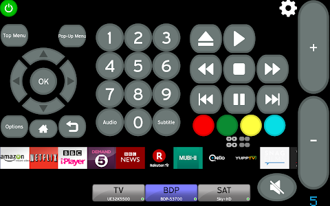 screenshot of MyAV remote for 2017-18 Hisense Smart TVs (Wi-Fi) version Cow V3.40