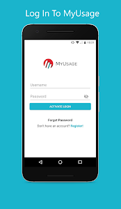 screenshot of MyUsage Mobile version 3.0.5