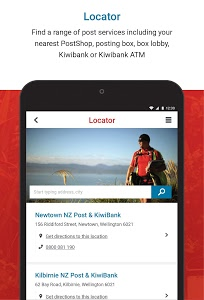 screenshot of NZ Post version Varies with device