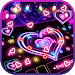 Download Neon Lights Heart Keyboard Theme 1.0 APK