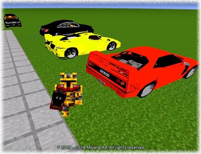 screenshot of New Cars for Minecraft Mod version v2.1.10