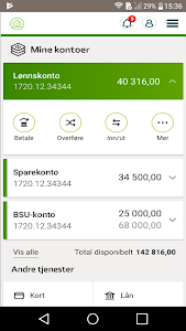 screenshot of Odal Sparebank version 7.6.0