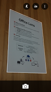 screenshot of Office Lens version Varies with device
