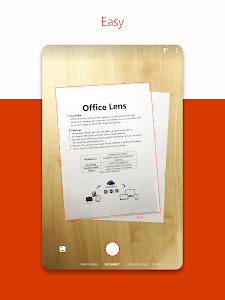 screenshot of Microsoft Office Lens - PDF Scanner version 16.0.10730.20054