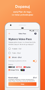 screenshot of Orange Flex version 8.0.1