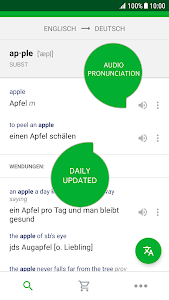 screenshot of PONS Translate version Varies with device