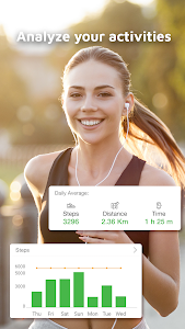 screenshot of Pedometer: GStep Counter And Running Tracker App version Varies with device