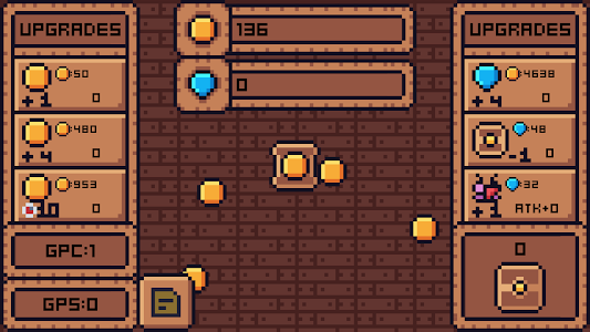 screenshot of Pixel Gold Clicker version 1.2.6