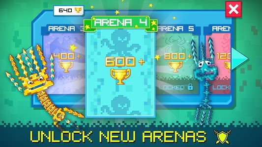 screenshot of Pixel Sword Fish io version 1.84