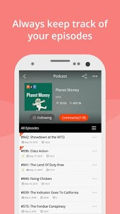 screenshot of Podcast App & Podcast Player - Podbean version 7.0.3