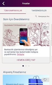 screenshot of QNB Finansbank Cep Şubesi version 2.5.8